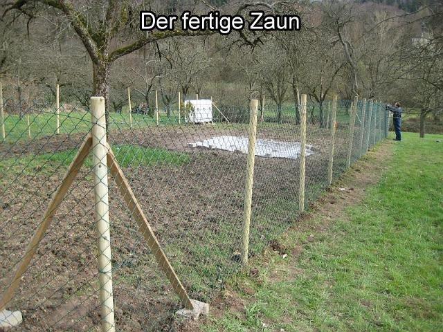 Der fertige Zaun